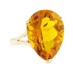 17.20 ctw Citrine Ring - 14KT Yellow Gold