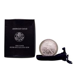 2006 $1 Burnished American Silver Eagle Coin with Box & COA