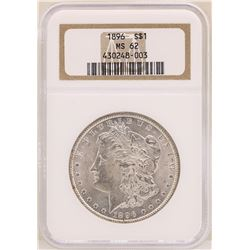 1896 $1 Morgan Silver Dollar Coin NGC MS62