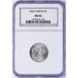 2005-P Bison Nickel Coin NGC MS66