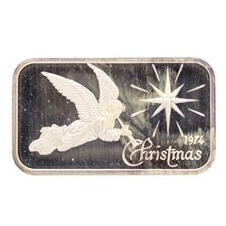 1974 Christmas Madison Mint 1 oz .999 Fine Silver Art Bar