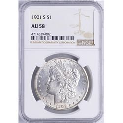 1901-S $1 Morgan Silver Dollar Coin NGC AU58