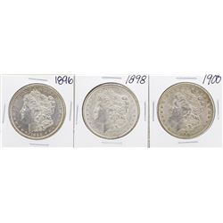 Lot of 1896, 1898, 1900 $1 Morgan Silver Dollar Coins