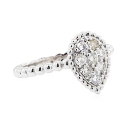 14KT White Gold 0.39 ctw Diamond Cluster Ring