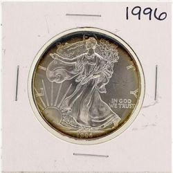 1996 $1 American Silver Eagle Coin Amazing Toning