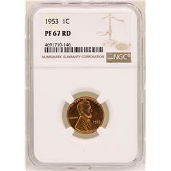 1953 Lincoln Wheat Cent Proof Coin NGC PG67RD