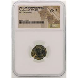 Arcadius 383-408 AD Ancient Eastern Roman Empire NGC Ch F