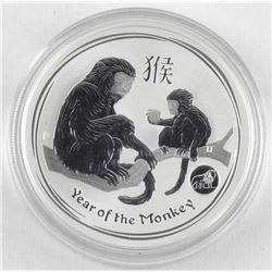 2016 .9999 Fine Silver Dollar Coin 'Year of the Mo