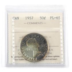 1957 Silver 50 Cents PL-65. ICCS (OX)
