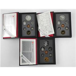 Lot (3) RCM Proof Coin Sets 1990-1992-1995.