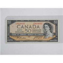Bank of Canada 1954 50.00 'VF' (Modified Portrait)
