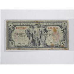 Canadian Bank of Commerce 1935 5.00 (VG)