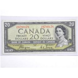 Bank of Canada $20.00 Devil's Face C/T.