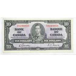 Bank of Canada 1937 Ten Dollar Note (VF) BC 24c