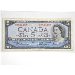 Bank of Canada 1954 $5.00 Devil's Face B/C.
