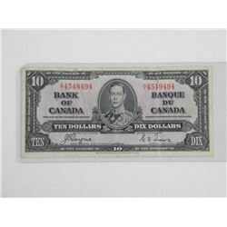 Bank of Canada 1937 10.00 (F)