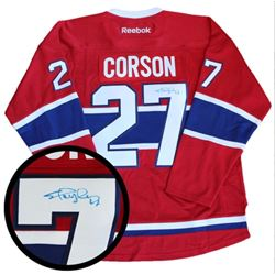 Shayne Corson - (MONT) Jersey signed. with C.O.A.