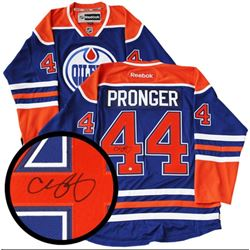Chris Pronger - Oilers Jersey Signed with C.O.A. Inscribed Top 100