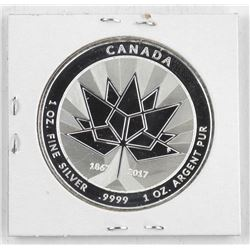 .9999 Fine Silver 1967=2017 Canada 150 Medal 'Goose/Flag' SOLD OUT. 1oz ASW