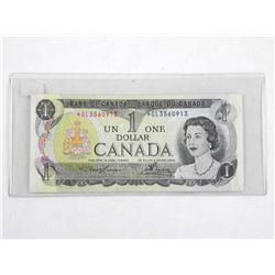 Bank of Canada 1973 One Dollar Note *Replacement L/B