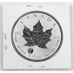 2016 .9999 Fine Silver Maple Leaf 5.00 Coin with Privy Proof - Reverse