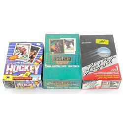 Estate Lot (3) Sports Unopened Wax and Foil Boxes (OR)