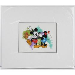 "Disney - Mickey and Minnie Mouse Hand Painted, Matted 16x18"" (MXR)"