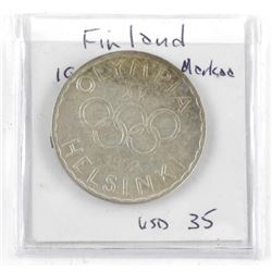 Finland 1952 Olympic Coin Silver