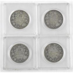 Lot (4) Canada Silver 50 Cent 1913, 1916, 1917, 1919