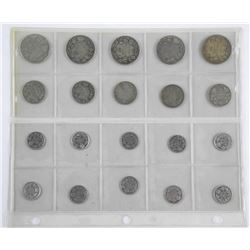 Lot (20) Canada Silver Coins - Mix of 10, 25, 50 Cents