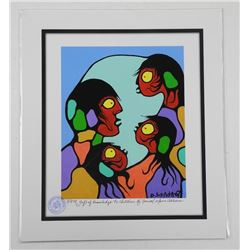 Norval Morrisseau (1931-2007) Studio Litho - LE 'A Gift of Knowledge to Children' with Family Founda