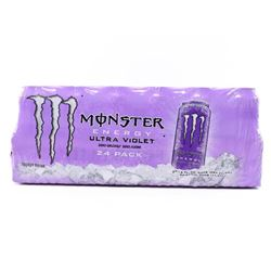 (1) Case (24) Cans - Monster Energy Drink ultra Violet Zero Calories/Zero Sugar