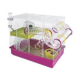 Ferplast CAGE LAURA Hamster Cage- Wide Playing Areas- 18- 11x11- 61xH 14- 76-Inch White