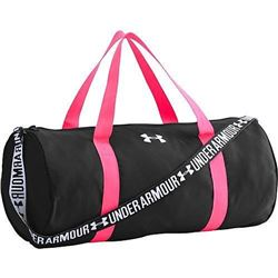 Under Armour Girls' Favorite Duffle- Black (001)/White- One Size