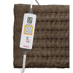 Sunbeam Xpress Heat King Heating Pad- Brown