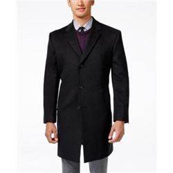 Kenneth Cole REACTION Men's Raburn Wool Top Coat- Charcoal- 42 Short