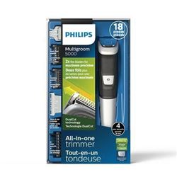 Philips Multigroom Series 5000 Corded/Cordless with 17 Trimming Accessories- DualCut Technology- Lit