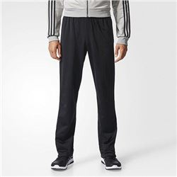 adidas Men's Athletics Essential Tricot 3-Stripe Pants- Black/Black- Large