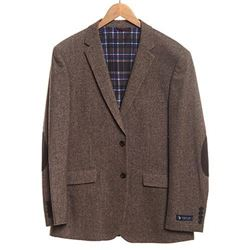 U.S. Polo Assn. Men's Wool Blend Sport Coat- Tim6022j Brown- 46 Regular