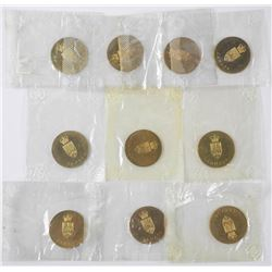 Lot (10) RCM Coat of Arms - Medallion 1867-1967