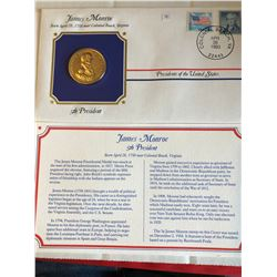 President Medals Cover Collection 1993 JAMES MONROE with Stamps