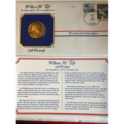 President Medals Cover Collection 1992 WILLIAM H TAFT with Stamps
