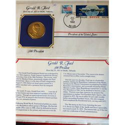 President Medals Cover Collection 1992 GERALD R FORD with Stamps
