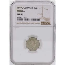 1869C Germany 1 Silber Groschen Prussia Coin NGC MS66