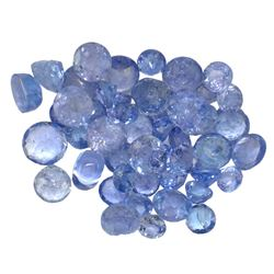 9.67 ctw Round Mixed Tanzanite Parcel