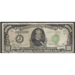 1934-A $1000 Federal Reserve Note Chicago