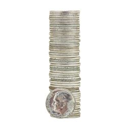 Roll of (50) 1964 Brilliant Uncirculated Roosevelt Dimes