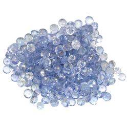 15.39 ctw Round Mixed Tanzanite Parcel
