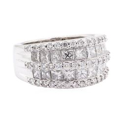 2.42 ctw Diamond Ring - 14KT White Gold