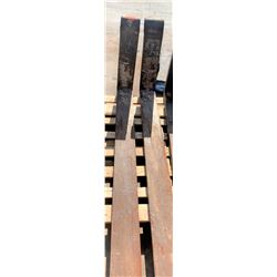 Qty 2 Forklift Forks - 6 Ft Long